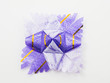 Purple gift star bows with ribbons