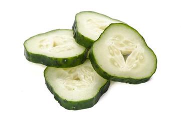 Freshly sliced cucumber