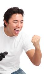Yeah I beat you!