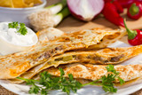 Southwest beef quesadila.