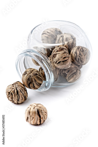 Green tea balls with jasmine.