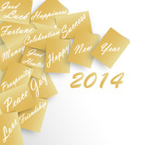 Happy New Year 2014 Golden Wishes