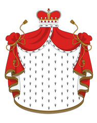 Heraldic royal mantle