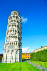 Leaning Tower of Pisa, Miracle Square. Italy