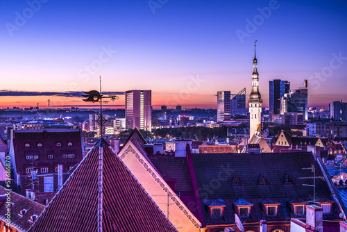 Tallinn, Estonia Skyline