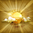 Sun, old style background