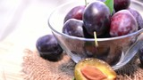 Fresh rotating Plums (loopable video)