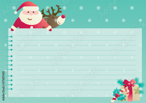 Vector christmas background with empty blank for text