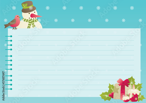 christmas background with empty blank for text