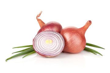 Fresh ripe red onion