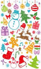 クリスマスカラフル
