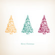 Vector Illustration of a Stylized Christmas Trees