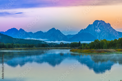 Poster Natuur Park Grand Teton Reflection at Sunrise