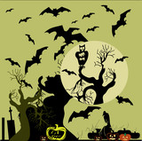 Vector Illustration of a Halloween background.