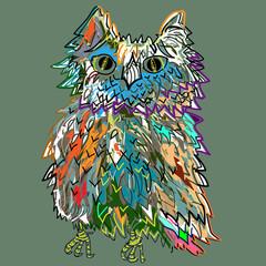 Cute cartoon Owl, vector illustration for t-shorts.