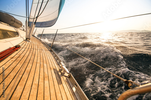 Yacht, sailing regatta. Luxury yachts. - 57689497