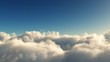 Flying above the clouds. Loop-ready 3d animation