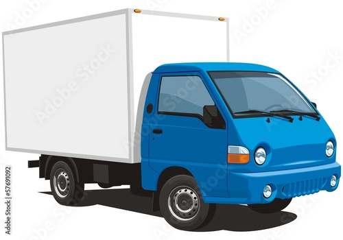Vector isolated delivery truck