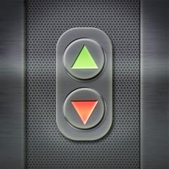 Schalter Aufzug - Lochblech Schild