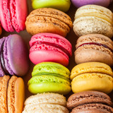 traditional french colorful macarons poster