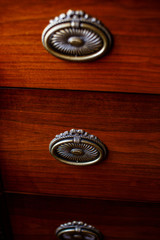 Three lockers of antique cupboard