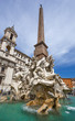Fountain of the Four Rivers. Piazza Navona, Rome. Italy