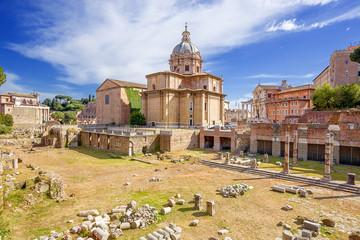 ruins of Roman forum. Rome. Italy.