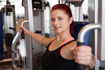Training im Fitnessstudio