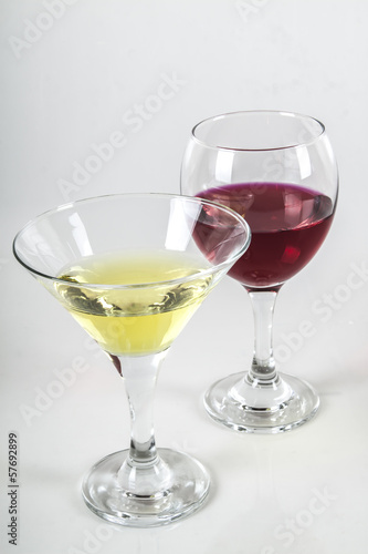 Wine and martini