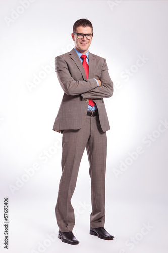 young business man with hands crossed