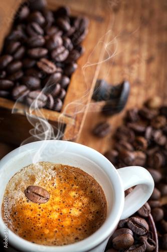 Foto op Canvas Cafe grain steaming