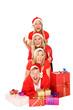 fröhliche Familie an Weihnachten