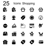 25 basic iconset shopping