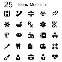 25 basic iconset medicine
