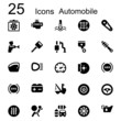 25 basic iconset automobile