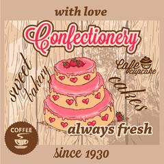 confectionery dessert menu