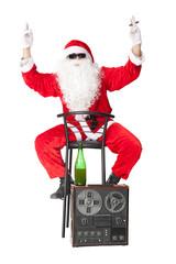 Santa Claus having fun at party