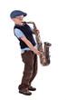 Saxophonspieler Retrolook