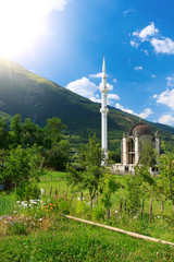 View of beautiful mosque in Montenegro