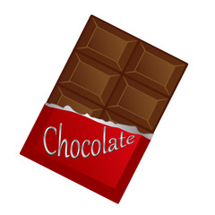 Milk chocolate, vector illustration