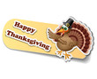 Thanksgiving sticker with turkey