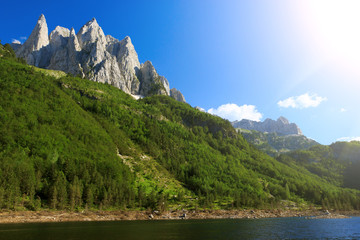 Amazing view of Cemerikino lake in Prokletije national park