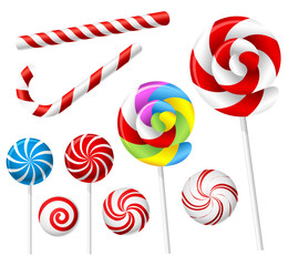 Lollipop and candy set