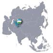Asienkarte mit Usbekistan