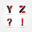 yz red stencil letters