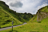 Winnats Pass in Derbyshire