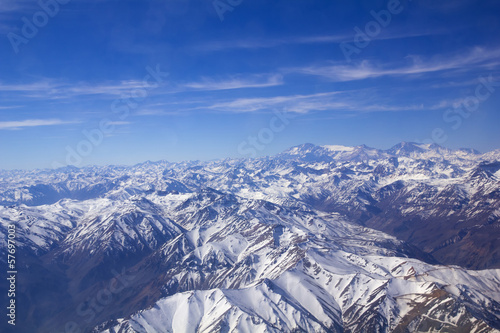 Andean mountains. Aerial photo