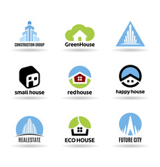 Building icon set. Construction and real estate (7)
