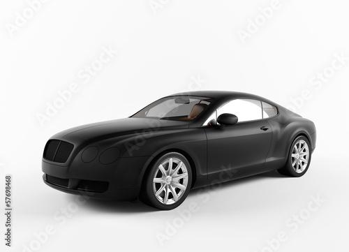 Foto op Canvas Snelle auto s Isolated matte Black concept sport car
