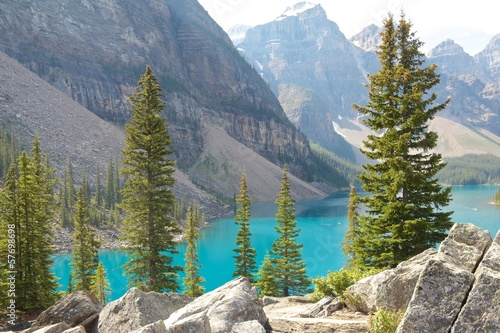 Rocks and Moraine Lake